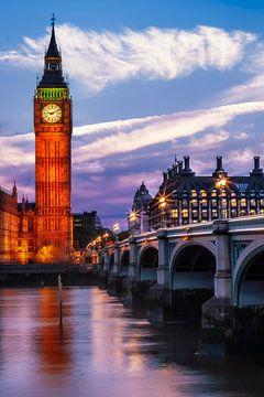 Abends an der Westminster Bridge von Melanie Viola