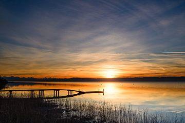 Sonnenuntergang am Ammersee von Denis Feiner