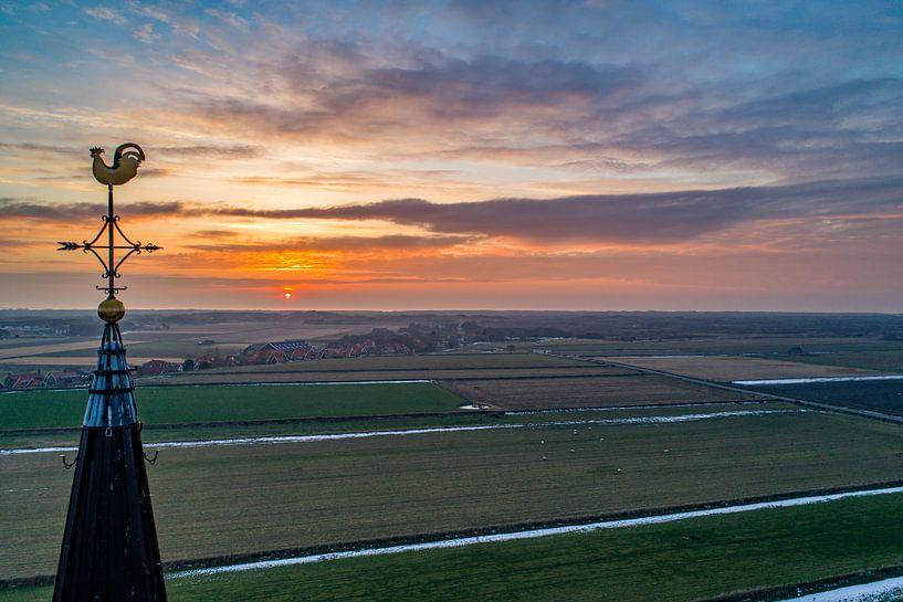 Den Hoorn Texel zonsondergang van Texel360Fotografie Richard Heerschap