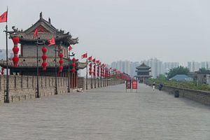 Stadsmuur Xian in China