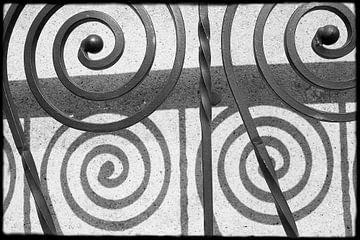 Abstrakte Kunst--Zaun-01 von Katja Goede