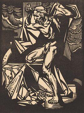 Samson zerstört die Säulen des Tempels, Johannes Josephus Aarts