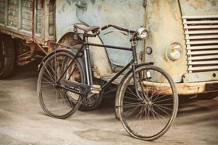 Das Fahrrad und der LKW