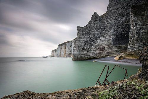 Krijtrotsen bij Etretat Normandië  van