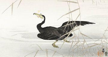 Japanischer Kormoran beim Fischfang, Ohara Koson