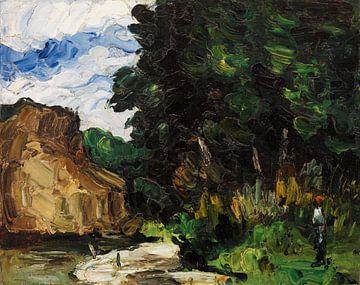 Biegung im Fluss, Paul Cézanne (ca. 1865) von Atelier Liesjes