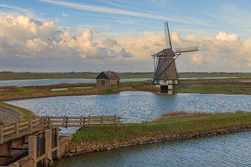 Poldermolen Het Noorden op Texel van Dokra Fotografie