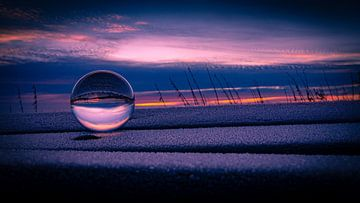 Linsenkugel Sonnenaufgang von Jeffrey van Roon
