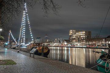 Winteravond lichtjes aan de Piushaven