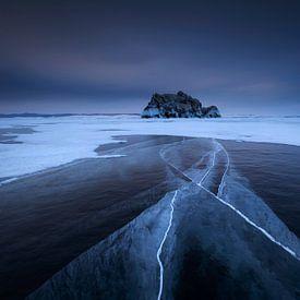 IJsscheuren in het Baikalmeer van Sven Broeckx