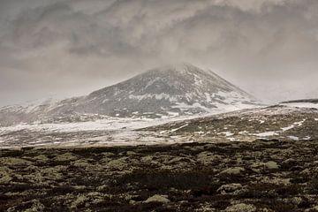 Besneeuwde berg Noorwegen van Marcel Kerdijk