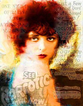 Clara Bow Pop Art Canvas von Leah Devora