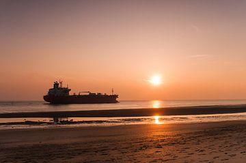Zeeschip bij Vlissingen von Peter en Hetty van Veen