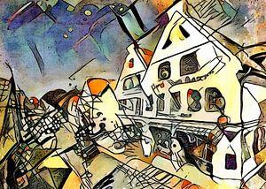 Kandinsky ontmoet Warnemünde 5 van zam art