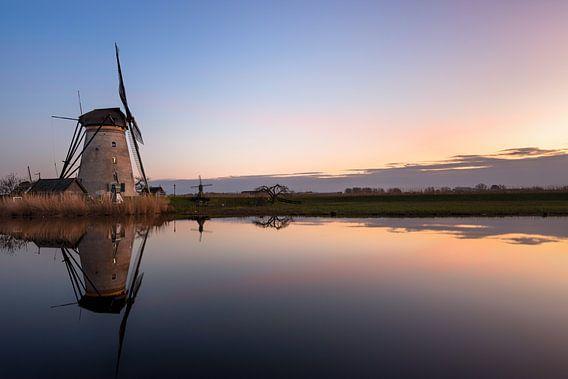Zonsondergang aan de molen