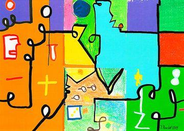 Abstractie # 22 van Johann Bucher