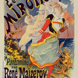 Poster voor de Folies Bergère,een cabaret muziekhal in Parijs, Frankrijk. van Jules Cheret, 1836 193 van Liszt Collection
