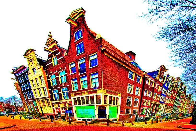 Colorful Amsterdam #117 van Theo van der Genugten