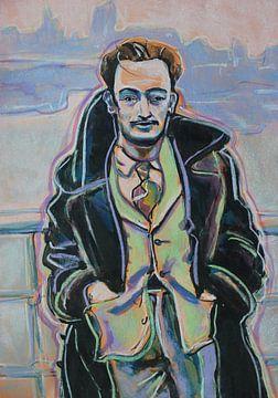 Porträt eines jungen Dalí von Helia Tayebi Art