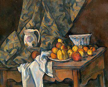 Paul Cézanne, Stilleven met appels en perziken - 1905 van Atelier Liesjes