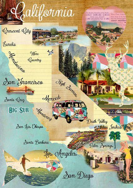 Kalifornien Collage van Green Nest