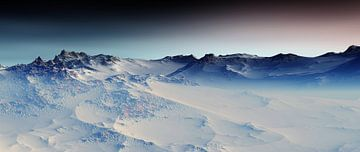 Besneeuwde bergen 4 van