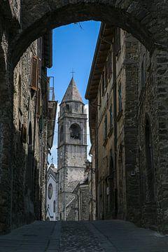 Kirche von Virgoletta, ein schönes altes Bergdorf, Bezirk Villafranca in der Lunigiana, Toskana, Ita von Maren Winter