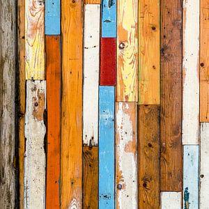 Abstract van lijnenspel met houten planken van