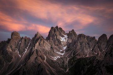 Sonnenuntergang in den Dolomiten von Roy Poots