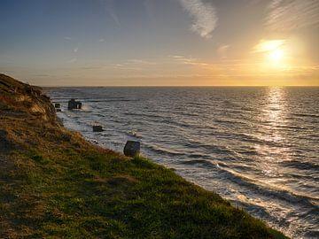 Sonnenuntergang Ahrenshoop Steilküste von Jörg Hausmann