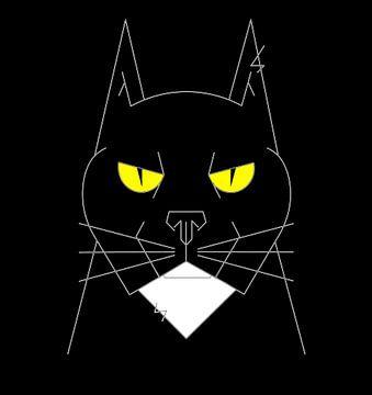Grumpy cat van Marcel Kerdijk