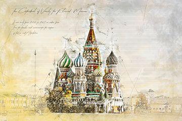 Basilius-Kathedrale, Moskau von Theodor Decker