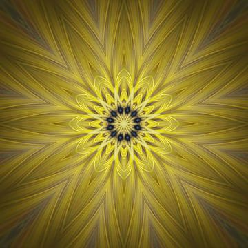 Étoile jaune Mandala sur Sabine Wagner