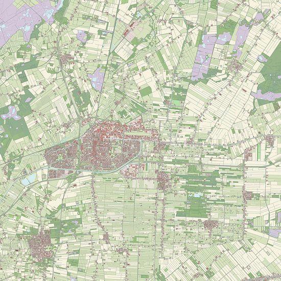 Kaart vanHoogeveen