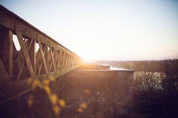 Brunnenbrücke Sonnenuntergang von Merijn Geurts