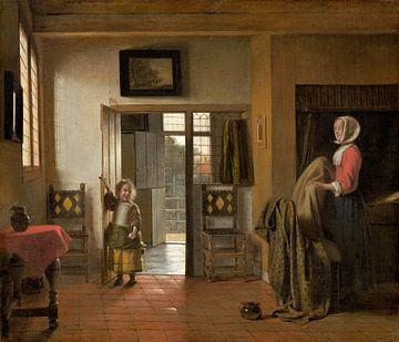 Das Schlafzimmer, Pieter de Hooch von