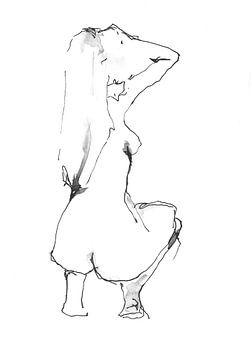 Hurkend naakt van Desiree Meulemans