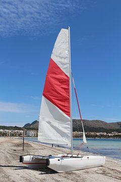 Catamaran op het strand van Audrey Nijhof
