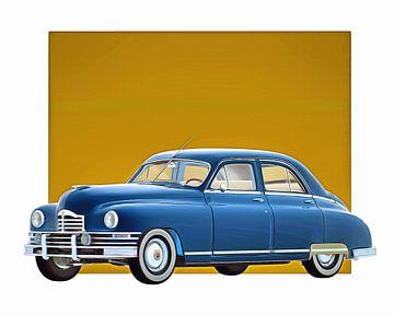 Klassieke auto – Oldtimer Packard Eight Sedan 1948 van Jan Keteleer