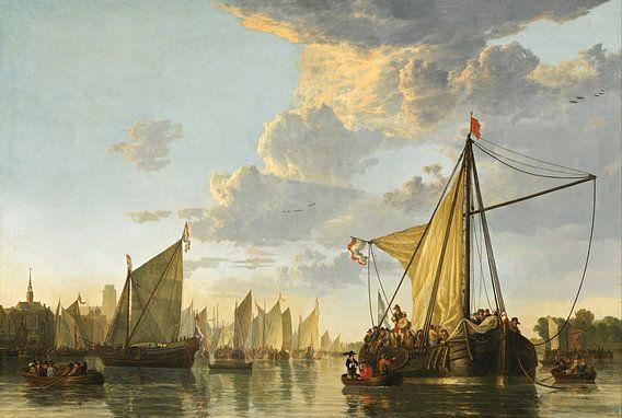 Albert Cuyp. De Maas bij Dordrecht van 1000 Schilderijen