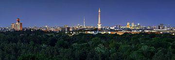Berlin Skyline zur blauen Stunde