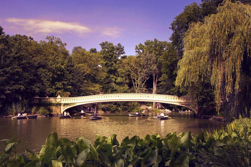 New York City - Bogenbrücke im Central Park von Tobias Majewski