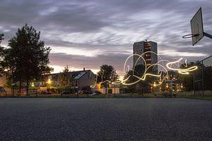 Groningen in de avond van Tim Stoppels
