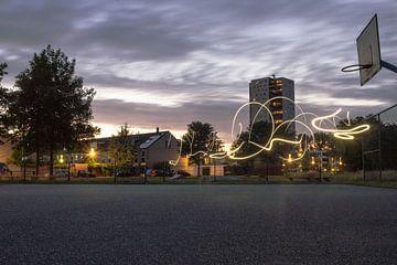 Groningen am Abend von Tim Stoppels