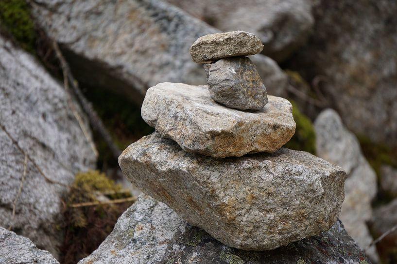 Stapel stenen van Atelier Liesjes