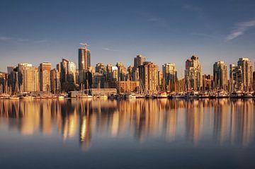 Golden sunset in Vancouver van