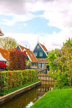 Oude, traditionele Nederlandse huizen in het dorpje De Rijp van Visiting The Dutch Countryside