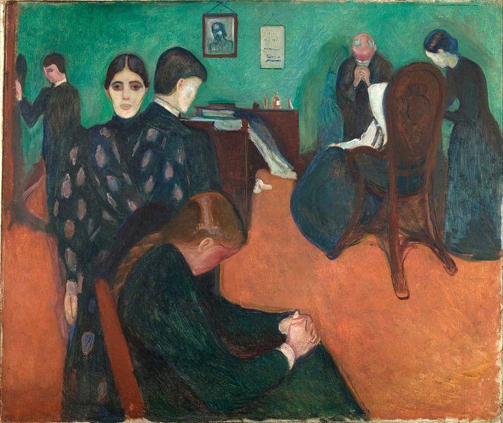 Edvard Munch. Dood in de ziekenzaal van 1000 Schilderijen