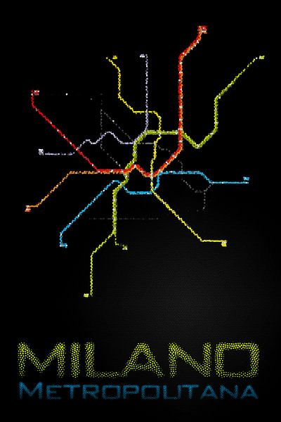 Milano Subway  van Wouter Sikkema