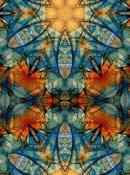 Inspiratie kerkraam blauw van Claudia Gründler